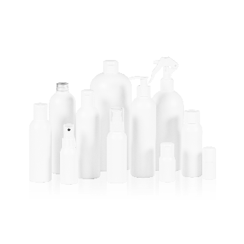 Basic Round Bottle HDPE White