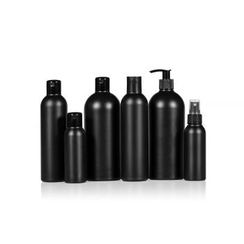 Basic Round Bottle HDPE Black