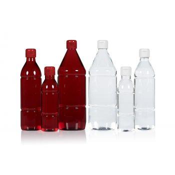 Mix bottles PET Transparent