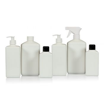 Recycled Standard Square bottles HDPE Ivory