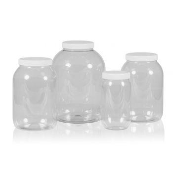 Big Clear Jar PET Transparent