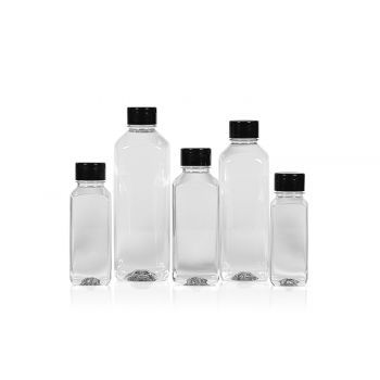 Recycled Juice Square bottles PET Transparent