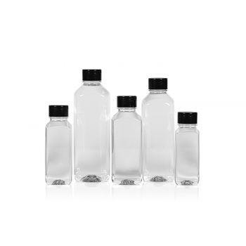Juice Square bottles PET Transparent