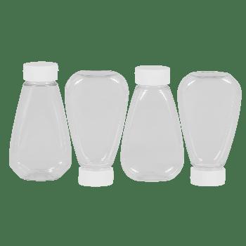 Sauce Oval Bottle PET Transparent